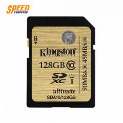 KINGSTON SDA10/128GB CARD SD 128GB CLASS10 HD VIDEO READ 90MB WRITE 45MB LIFTIME