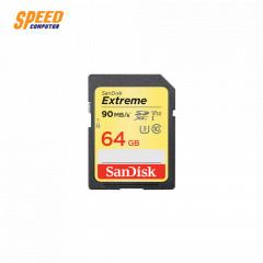 SANDISK SDSDXVE-064G-GNCIN CARD SD 64GB EXTREME CLASS10 READ UP TO 90MB/SEC, WRITE UP TO 40MB/SEC,U3,V30,UHS-I,LIFETIME