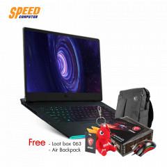 MSI GE66 RAIDER 10SF-015TH NOTEBOOK  i7-10750H+HM470/16GB DDR IV (8GB*2) 2666MHz/1TB NVMe PCIe Gen3x4 SSD/RTX2070, GDDR6 8GB/15.6 FHD (1920*1080), 240Hz /WiFi6/Win10