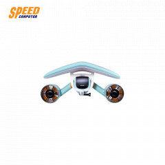 SUBLUE WHITESHARK MIX AQUA BLUE UNDERWATER SCOOTER WITH FLOATER