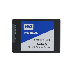 WESTERNDIGITAL SSD BLUE WDS500G2B0A-00SM50 500GB 2.5INC 7MM SATA 3 (6GB/S) READ 560MB/s WRITE 530MB/s