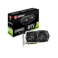 MSI VGA CARD RTX2060 SUPER ARMOR OC 8GB DDR6, Dual Fan, Core clock boost 1680MHz, PCIe x16 3.0, 256-bit, Display Port x3, HDMI 2.0b x1, Power consumption 175w, Recommend PSU 550w.