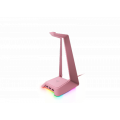 RAZER BASE STATION CHROMA - CHROMA ENABLED HEADSET STAND WITH USB HUB - QUARTZ PINK - FRML PACKAGING 1Y