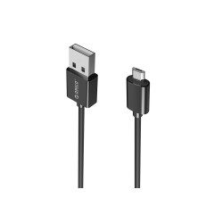 ORICO-ADC-20-BLACK CABLE Interface Micro USBOutput 5V3.0A (Max)Function Charge & SyncLengths 1MCompatible DevicesSmartphones or Tablets with Micro USB, such as Samsung, HTC, Sony, etc.