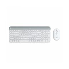 LOGITECH MK470 SLIM WHITE KEYBOARD + MOUSE SLIM COMBO//