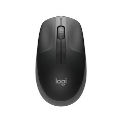 LOGITECH WIRELESS MOUSE M190 1000 dpi Sensor Resolution/3 Buttons/High Precision Optical Tracking/Logitech Nano Receiver/USB Interface/CHARCOAL/1Y//