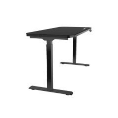 ERGOPIXEL TABLE GD0003A 140 x 60 CM/Single motor/Stroke : 50cm (71-121cm) ?2%/Loading Capacity:70kg / 154lbs/Length: 140 cm/width: 60 cm/3 Memory With USB QC 3.0/BLACK/BACK-N 5Y