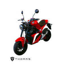 THOMAS_S2000_BIKE_RED MOTOR 2000W BATTERY 72V 30AH 85 KM./H MAX DISTANCE 60-80KM./H TIME 2-3 HOURS LITHIUM MANGANATE/Warranty Motor3Yrs Battery2Yrs Electrical1Yr