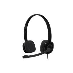 LOGITECH-981-000587 H151 Stereo Headset - Black