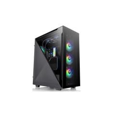 THERMALTAKE CASE Divider 500 TG ARGB/Black/Win/SPCC/Tempered Glass*4/120mm ARGB Fan*3/120mm Standard Fan*1/1Y