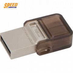 KINGSTON FLASHDRIVE DTDUO USB3.0 16GB. DUAL COM & ANDROID