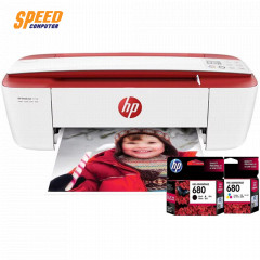 HP 3777 PRINTER  ALL-IN-ONE Copy, Print, Scan, Wireless (T8W40B)  print (19/15),scan(600dpi)/ 1 YEAR-ONSITE /COLOR RED ( 680BK+680CL)